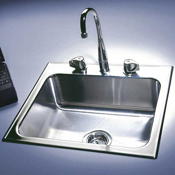 25 L x 21 W Drop-In Kitchen Sink by Just Manufacturing