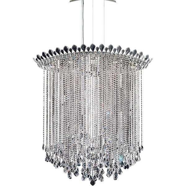Trilliane 8 - Light Unique / Statement Geometric Chandelier By Schonbek