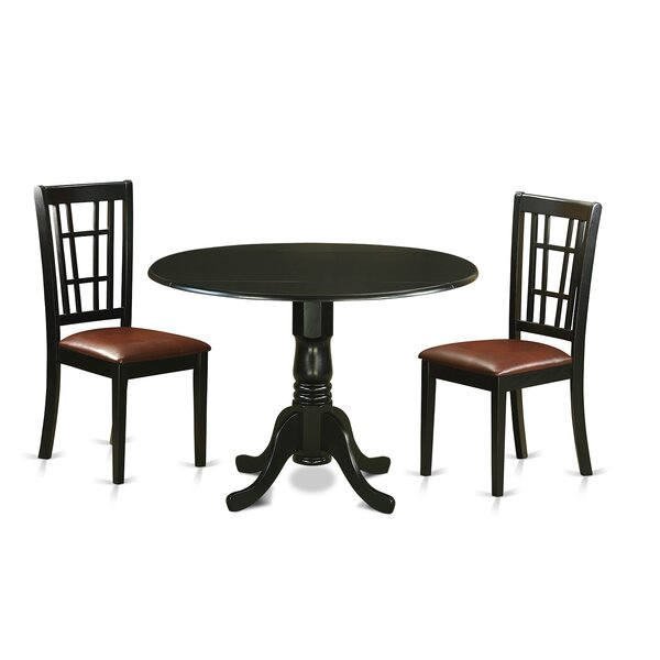 Spruill 3 Piece Extendable Dining Set by August Grove
