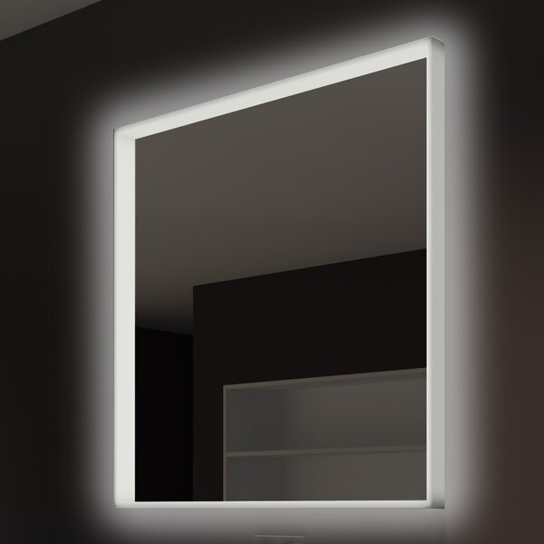 Acrylic Illuminated Bathroom/Vanity Wall Mirror by Paris Mirror