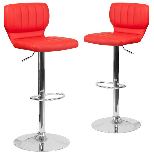 Norrell Adjustable Swivel Bar Stool (Set of 2) by Orren Ellis