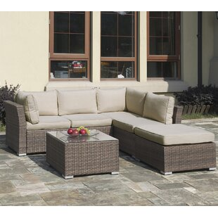 Compare prices Lizkona Patricia 4 Piece Rattan Sofa Set with Cushions by Poundex