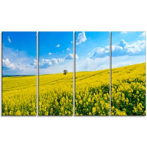 'Lone Tree in Blooming Cozla Park' 4 Piece Wall Art on Wrapped Canvas Set by Design Art