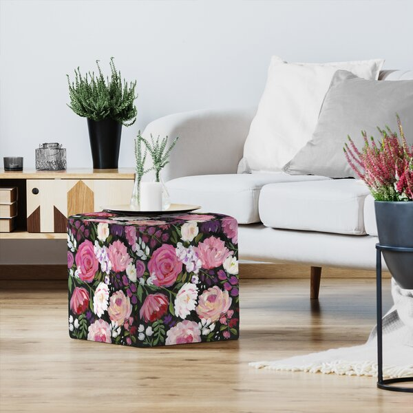Sharon Montgomery Ambient Garden II Standard Ottoman by East Urban Home East Urban Home