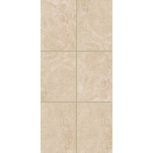 Bradwell Glazed 12 x 24 Porcelain Field Tile in Crema Marfil by Mohawk Flooring