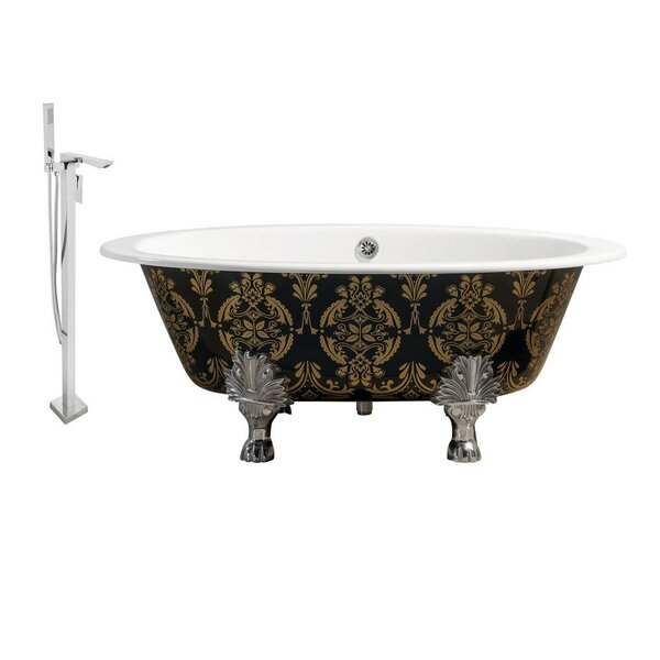 Cast Iron 65 x 35 Clawfoot Soaking Bathtub by Streamline Bath