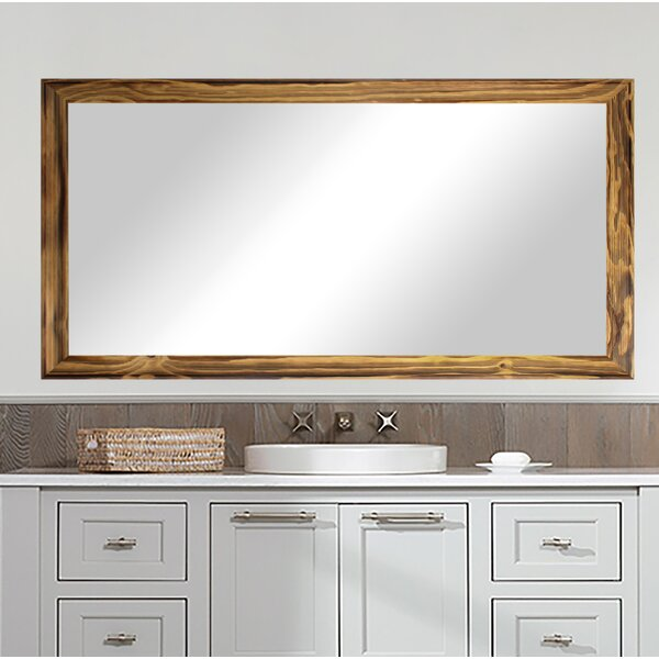 Graziano Burnt Bathroom Mirror by Highland Dunes