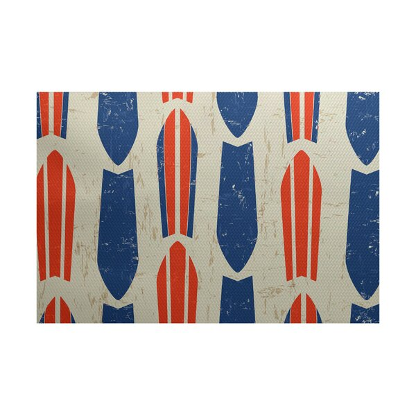 Pembrook Orange/Blue Indoor/Outdoor Area Rug by Bay Isle Home