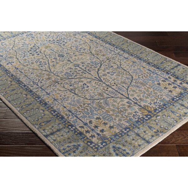 Akins Gray/Green Area Rug by Charlton Home