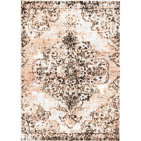 Aliza Handloom Charcoal/Peach Area Rug by Bungalow Rose