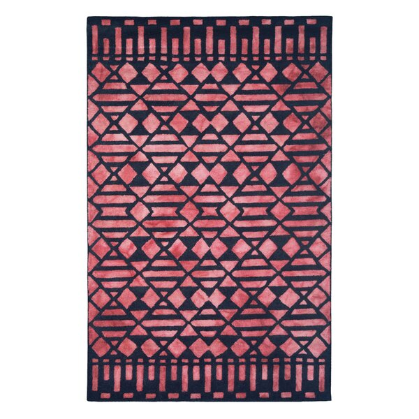Wool Hand-Tufted Black/Red Area Rug by Eastern Weavers