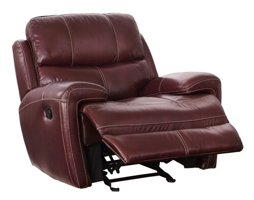 Simeone Leather Glider Recliner by Red Barrel Studio