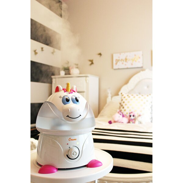 Adorable 1 Gal. Cool Mist Ultrasonic Console Humidifier by Crane USA