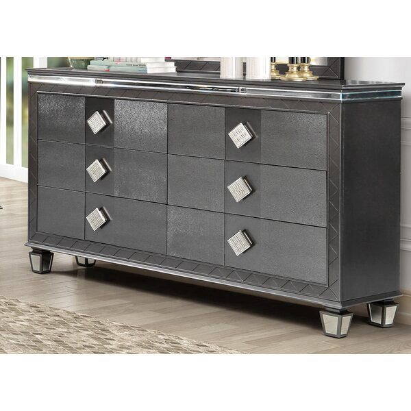 Halcomb 6 Drawer Double Dresser by Everly Quinn