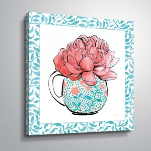 'Floral Teacup I' Print by House of Hampton
