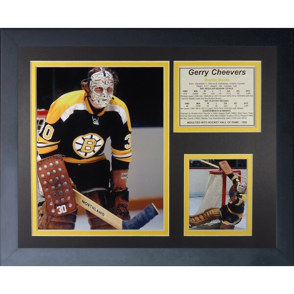 Gerry Cheevers - Boston Bruins Framed Memorabilia by Legends Never Die