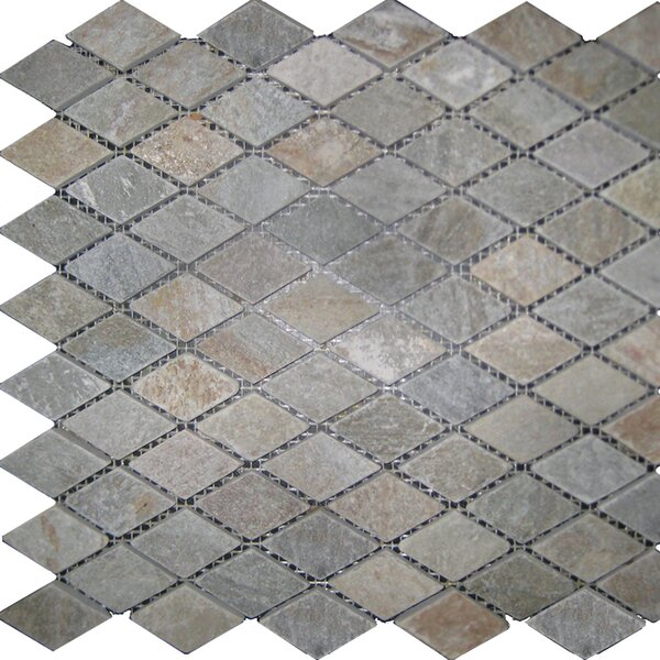 Diamond Slate Mosaic Tile in Sunny Ray by Epoch Architectural Surfaces