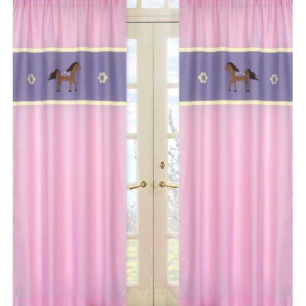 Pony Wildlife Semi-Sheer Rod Pocket Curtain Panels (Set of 2) by Sweet Jojo Designs
