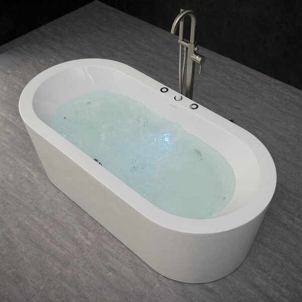 67 x 32 Freestanding Combination Bathtub by WoodBridge