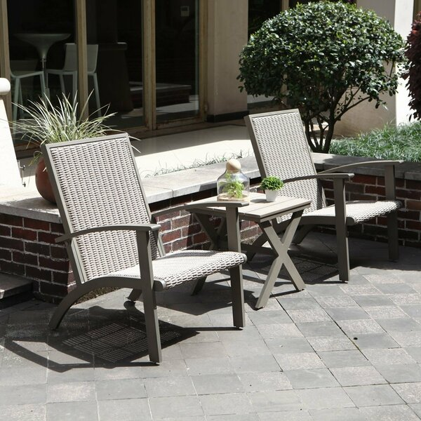 Opalstone 3 Piece Rattan Conversation Set by Gracie Oaks
