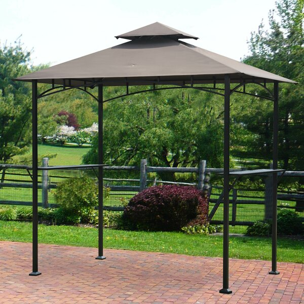 Henley 8 Ft. W x 5 Ft. D Steel Grill Gazebo by Sunjoy