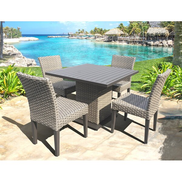 Oasis 5 Piece Dining Set by TK Classics