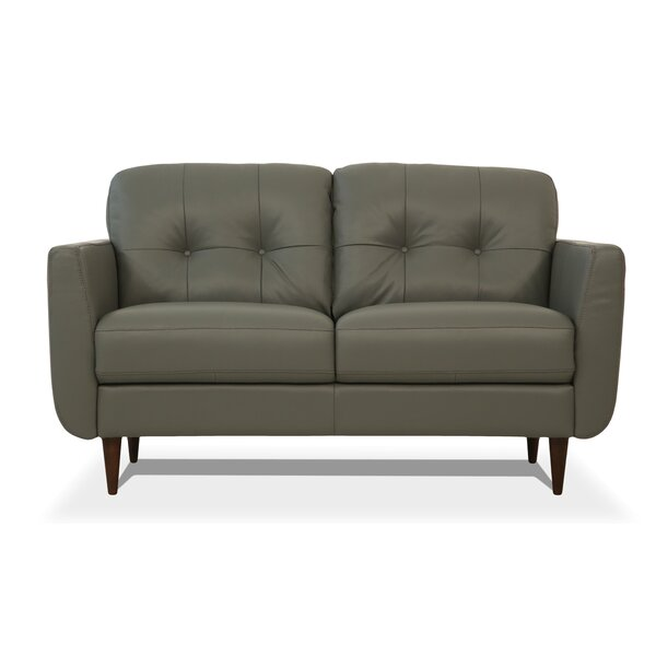 Shop The Best Selection Of Bove Leather Loveseat by Corrigan Studio by Corrigan Studio