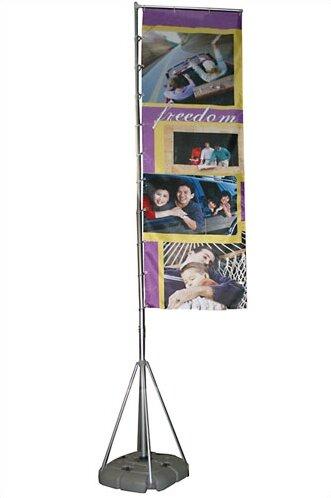 Wind Dancer Telescopic Outdoor Flagpole by Exhibit