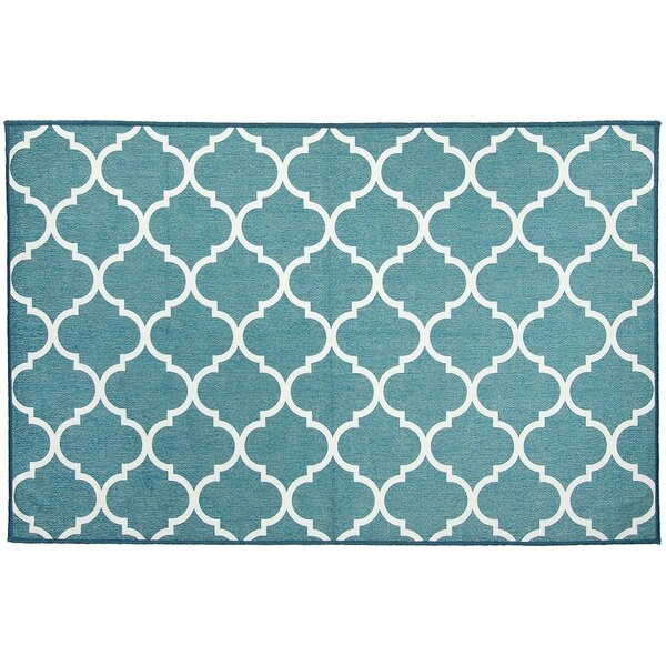 Moroccan Teal Indoor/Outdoor Accent Rug by Ruggable
