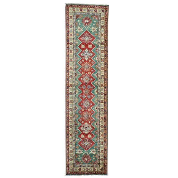 One-of-a-Kind Tillett Super Hand-Knotted Forest Green Area Rug by Millwood Pines