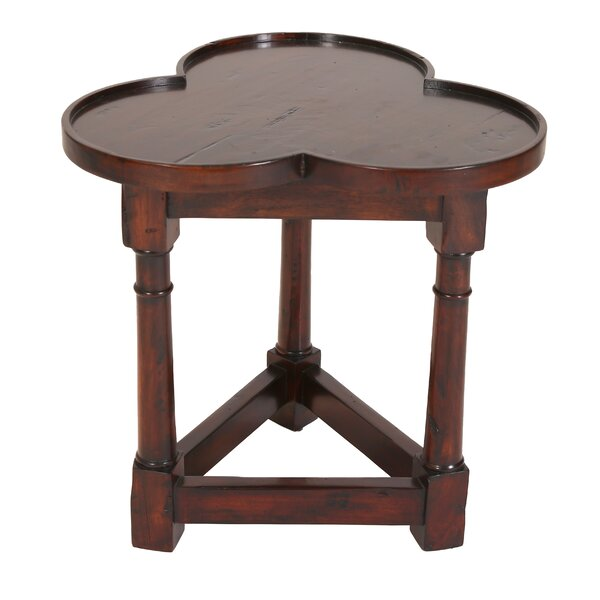Cloverfield Solid Wood Tray Top 3 Leg End Table by Manor Born Furnishings Manor Born Furnishings