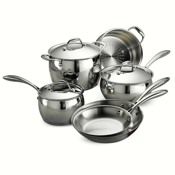 Gourmet 9 Piece Domus Stainless Steel Cookware Set by Tramontina
