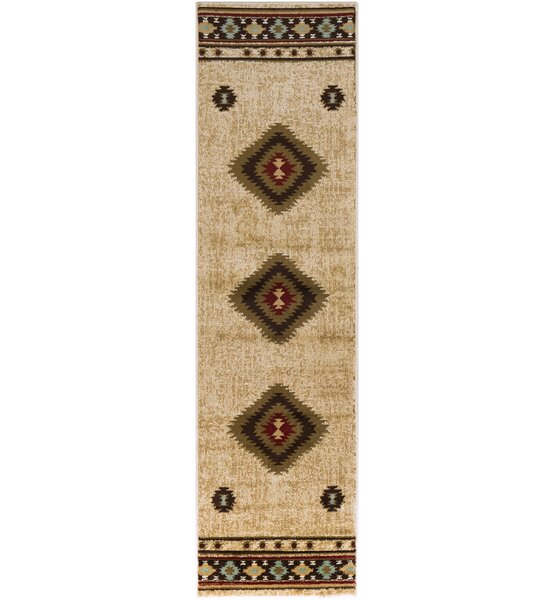 Thornton Brown/Beige Area Rug by Millwood Pines