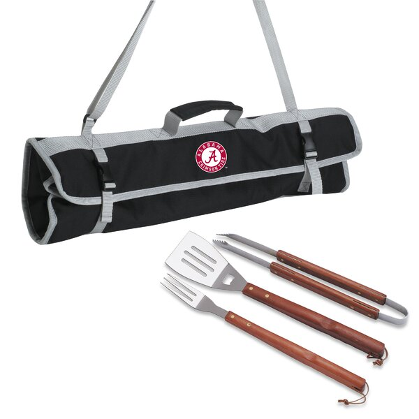 NCAA 3 Piece BBQ Tool Set with Tote by ONIVA™