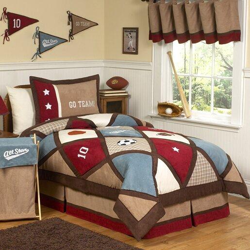 All Star Sports 4 Piece Twin Comforter Set by Sweet Jojo Designs