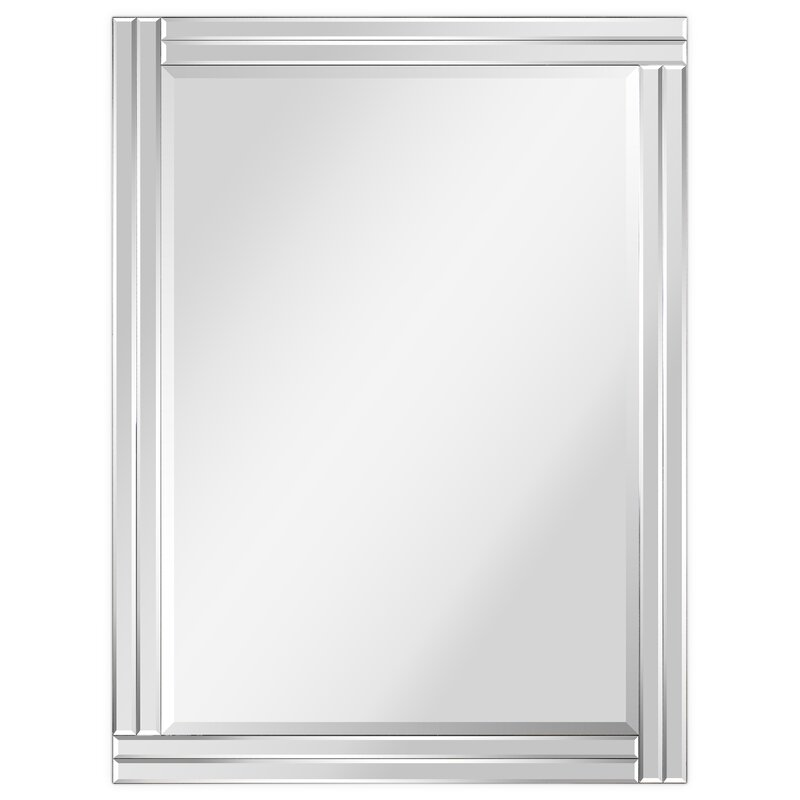 Wrought Studio Modern Stepped Beveled Rectangle Wall ...