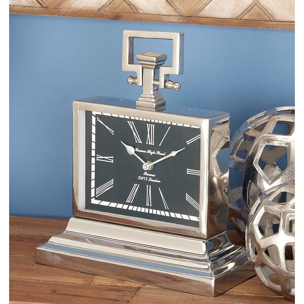 Contemporary Tabletop Clock by Alcott Hill