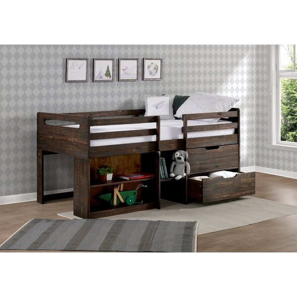 Mererid Twin Low Loft Bed with Drawers by Harriet Bee