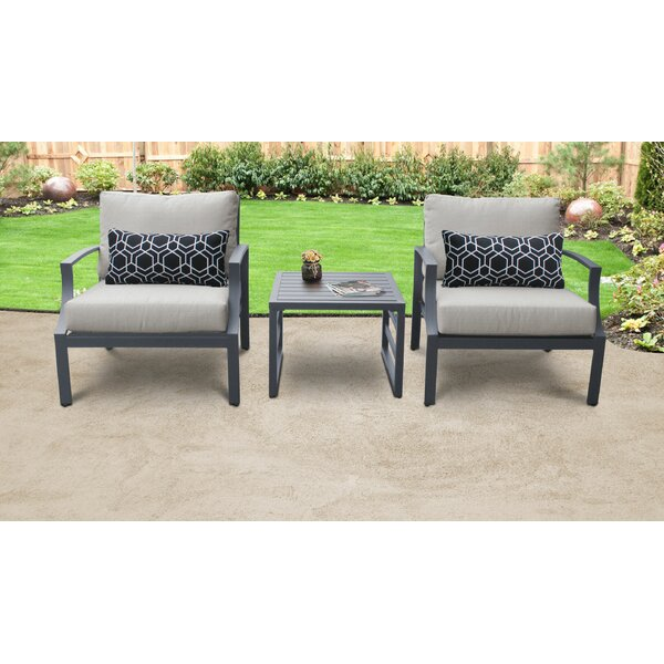 Benner 3 Piece Seating Group Set with Cushions by Ivy Bronx