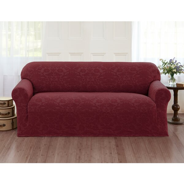Damask Box Cushion Sofa Slipcover By Alcott Hill Today Only Sale