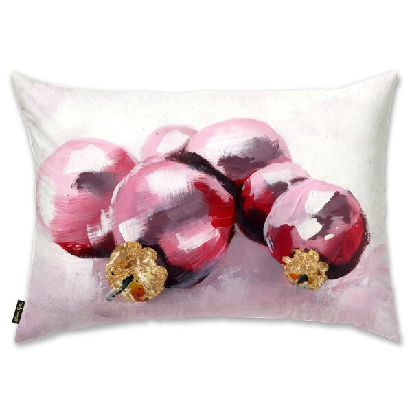 Pink Christmas Lumbar Pillow by The Holiday Aisle