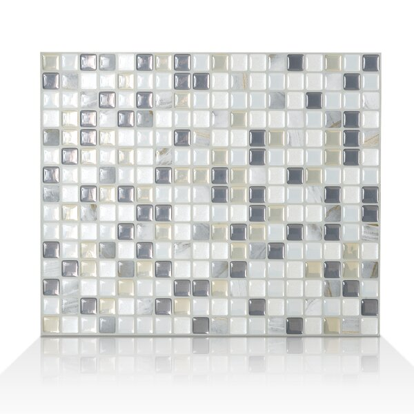 Minimo Noche 11.55 x 9.64 Peel & Stick Wall Tile in White & Gray by Smart Tiles
