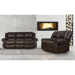Hollands 2 Piece Faux Leather Reclining Living Room Set by Red Barrel Studio®