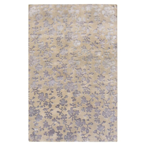 Luminous Dove Gray Floral Area Rug by Candice Olson Rugs