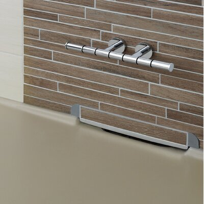 Beau Wall Mount Double Post Shower Foot Rest