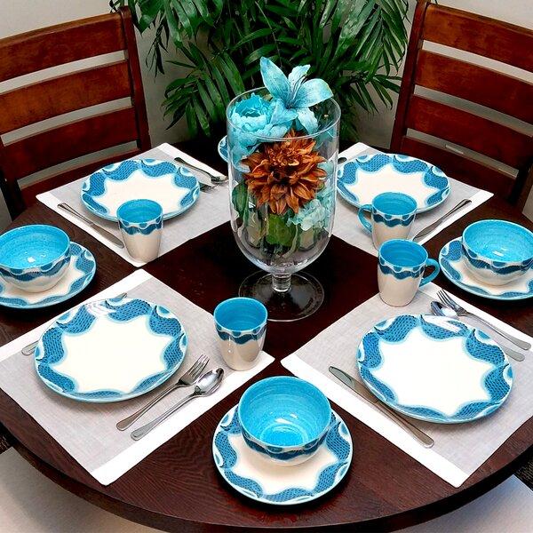 Bohon 16 Piece Dinnerware Set, Service for 4 by Ebern Designs