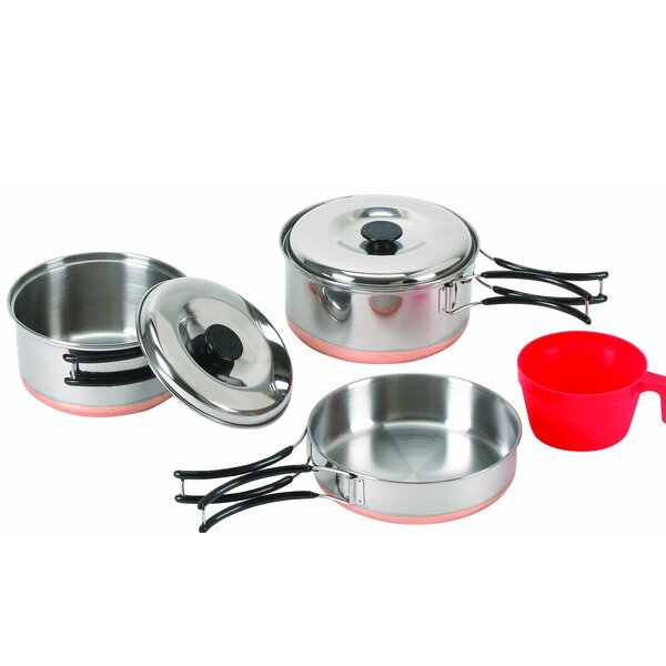 Stansport 5 Piece Stainless Steel Cookware Set by Stansport