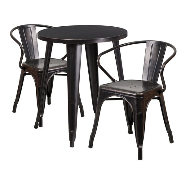 Eleanor 3 Piece Bar Height Dining Set by Williston Forge