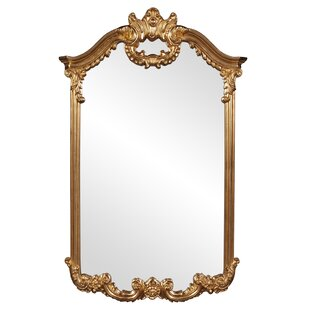Astoria Grand Arch/Crowned top Bright Gold Wall Mirror