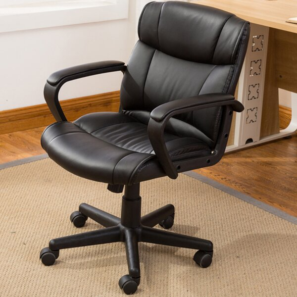 Computer Padded Armrest Mid-Back Office Desk Chair by Symple Stuff